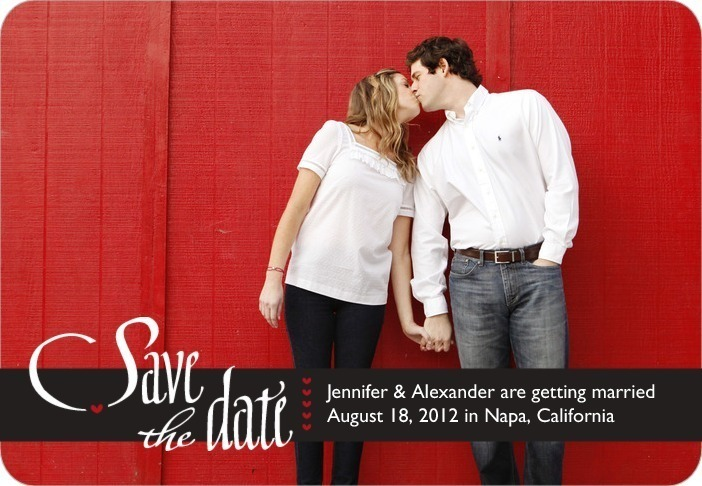 Save the date magnets, Heartfelt Script