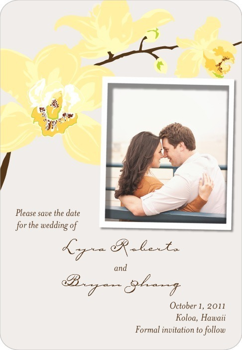 Save the date magnets, Artistic Orchids