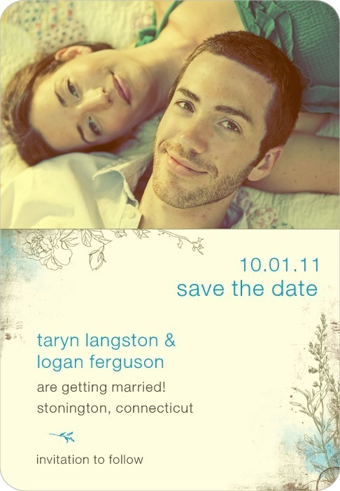 photo of Save the date magnets, Rustic Garden