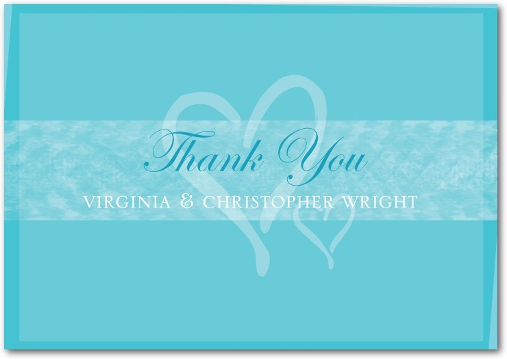Signature white thank you cards, Shared Hearts