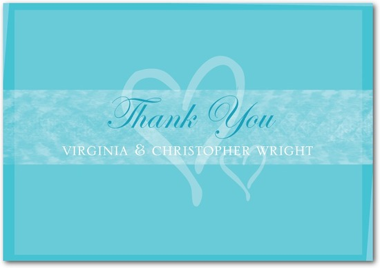 photo of Signature white thank you cards, Shared Hearts