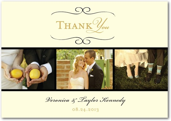 Signature white thank you cards, Restored Calendar