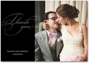 photo of Signature white thank you cards, Opulent Script