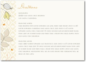 photo of Signature white enclosure cards, Bohemian Spring