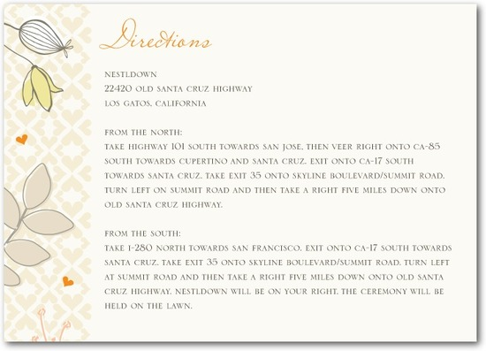 Signature white enclosure cards, Bohemian Spring