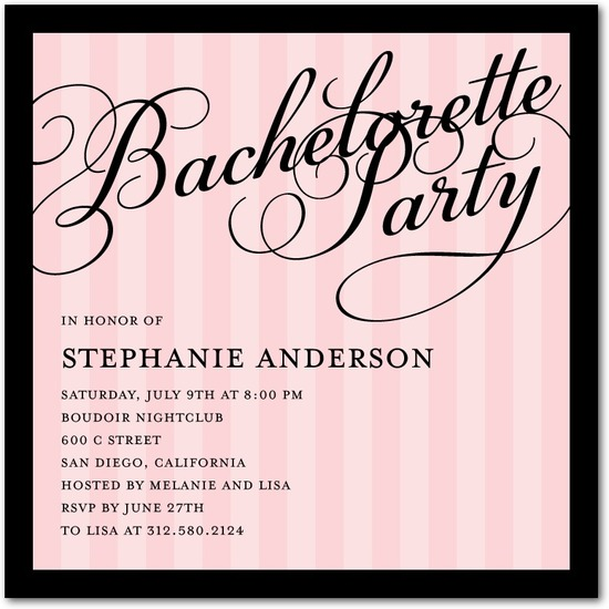 Signature white party invitations, Private Party