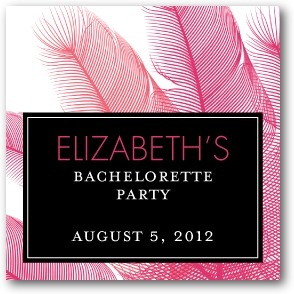 Personalized gift tag stickers, Fascinating Feathers