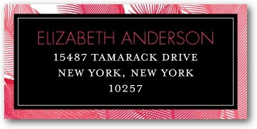 Personalized address labels, Fascinating Feathers