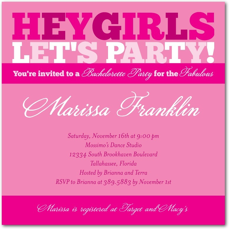 Signature white party invitations, Party Type