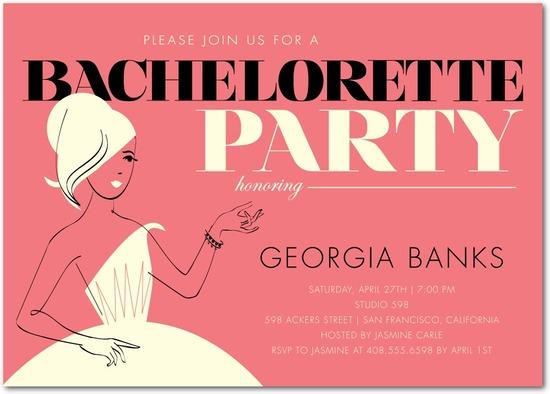 photo of Signature white party invitations, Retro Chic