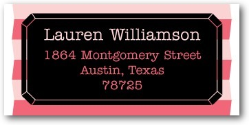 Personalized address labels, Diamond Night