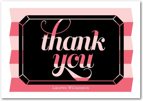 Signature white thank you cards, Diamond Night