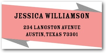 photo of Personalized address labels, Bachelorette Banner