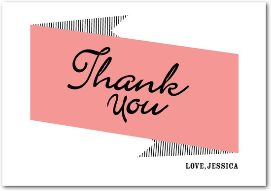 Signature white thank you cards, Bachelorette Banner