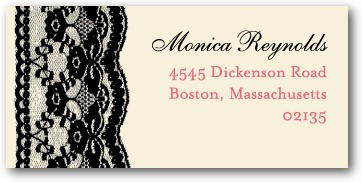 Personalized address labels, Lacy Edge