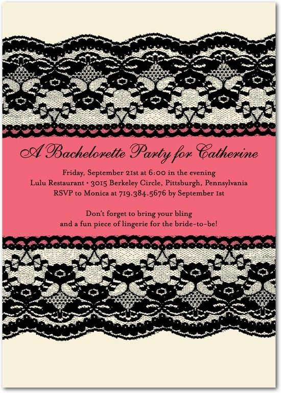 Signature white party invitations, Lacy Edge