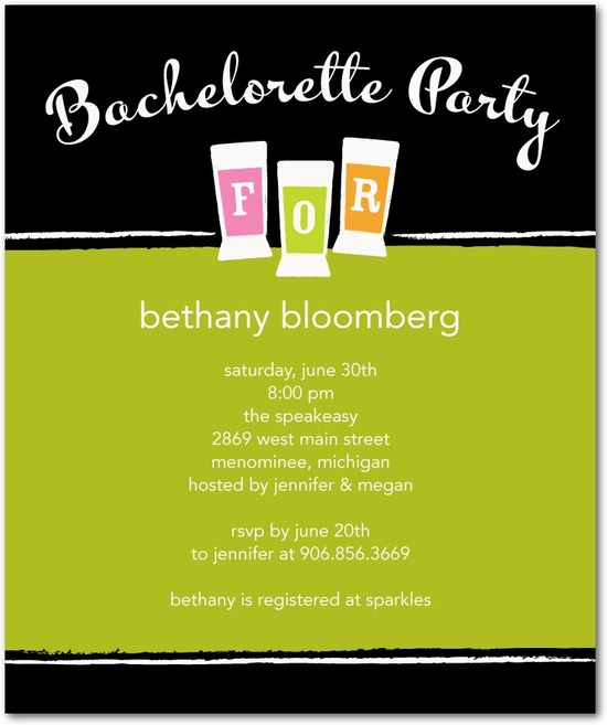 Studio basics: bachelorette party invitations, Party Shots
