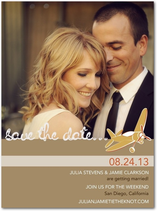 photo of Signature white photo save the date cards, Charming Transport