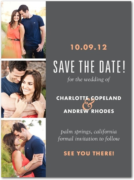 photo of Signature white photo save the date cards, Photo Booth Shoot
