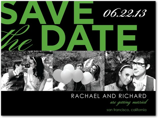 photo of Signature white photo save the date cards, Standout Style