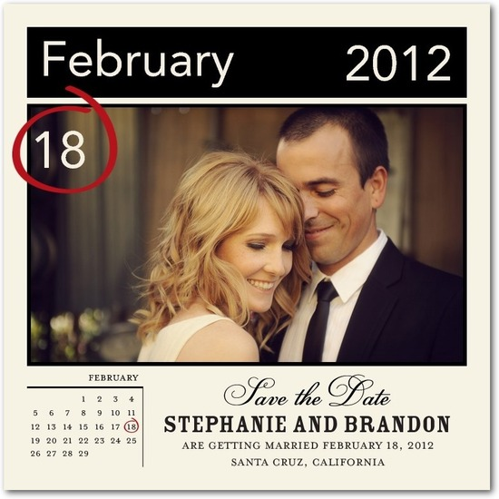 photo of Signature white photo save the date cards, Circle It