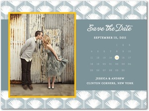 photo of Signature white photo save the date cards, Perfect Palms