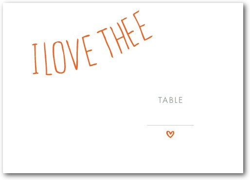 Thermography place cards, With These Words