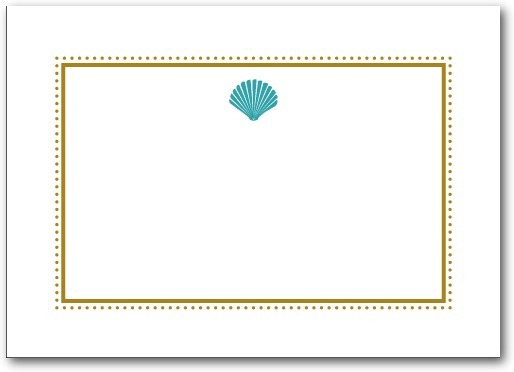 Thermography place cards, Splendid Seashell