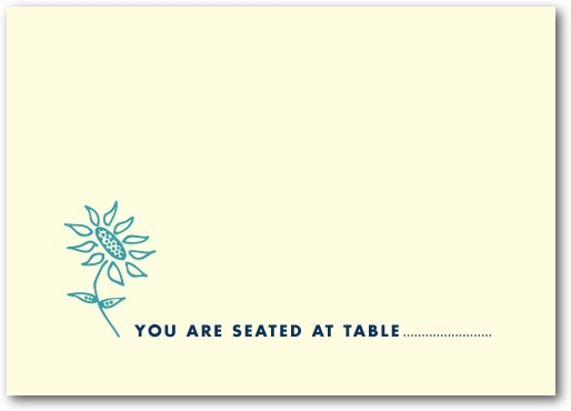 Thermography place cards, Spring Doodles