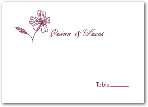 Thermography place cards, Tropical Chic