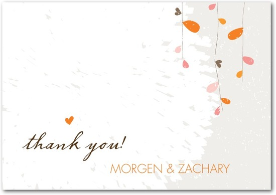 Signature white textured thank you cards, Summer Sway