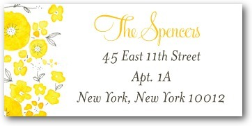 Personalized address labels, Sunny Monogram
