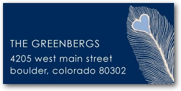 photo of Personalized address labels, Lovely Feather