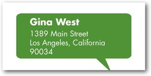 photo of Personalized address labels, Exciting News