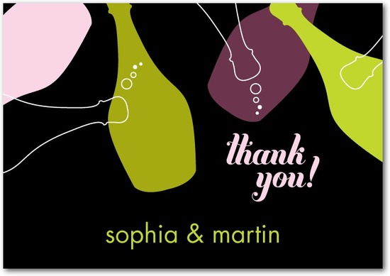 photo of Signature white thank you cards, Bountiful Bubbly