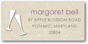 Personalized address labels, Champagne Banner