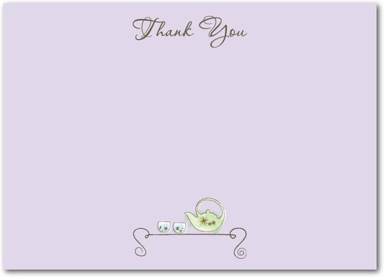 Studio basics: flat thank you cards, Tea Treasures