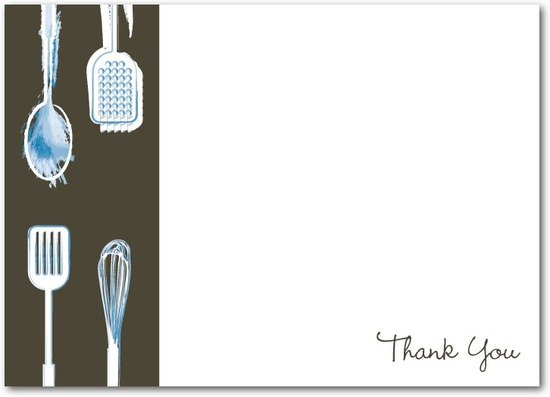 Studio basics: flat thank you cards, Modern Cookware