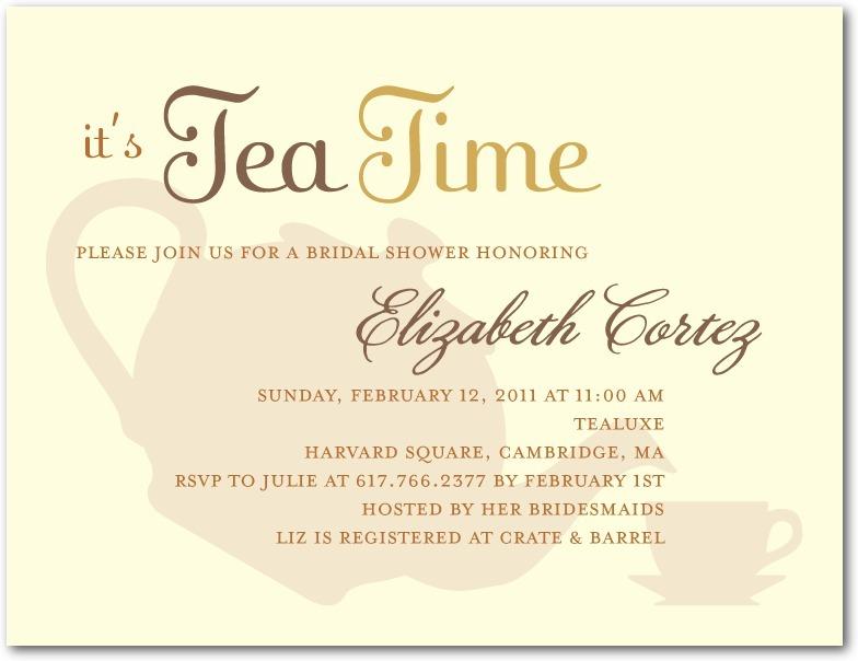 signature white bridal shower invitations high tea
