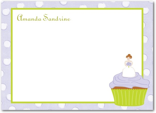 photo of Studio basics: flat thank you cards, Cupcake Bride