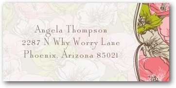 Personalized address labels, Antique Blooms