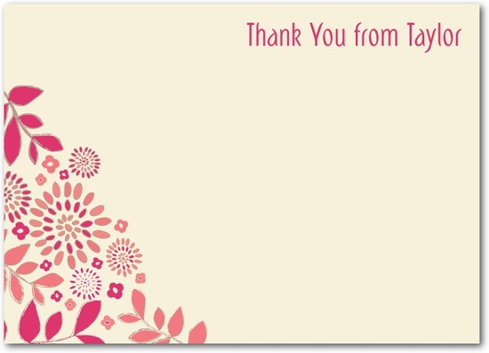 Studio basics: flat thank you cards, Blushing Blossoms