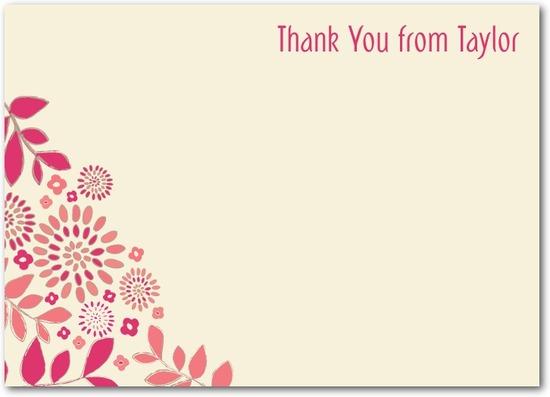 photo of Studio basics: flat thank you cards, Blushing Blossoms