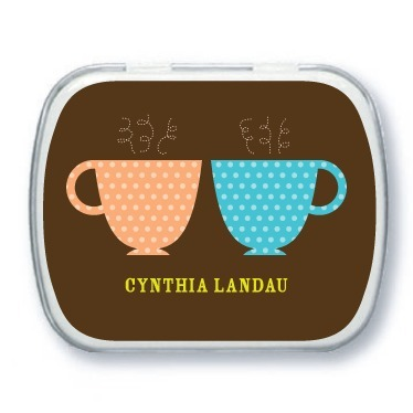 Personalized mint tins, Charming Teacups