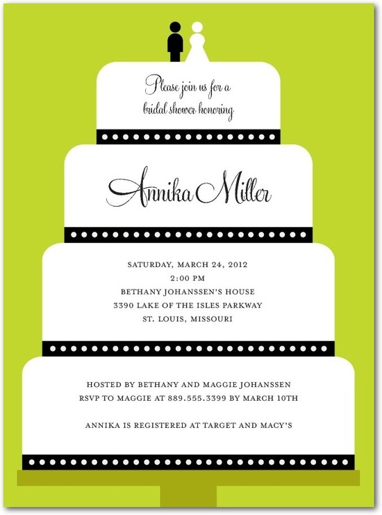 Signature white bridal shower invitations, Layered Style