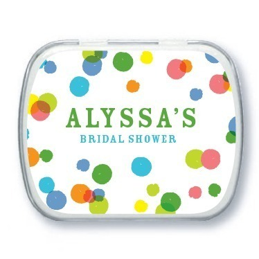 Personalized mint tins, Confetti Dreams