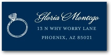 Personalized address labels, Grandiose Type