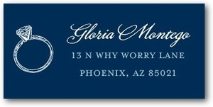 photo of Personalized address labels, Grandiose Type