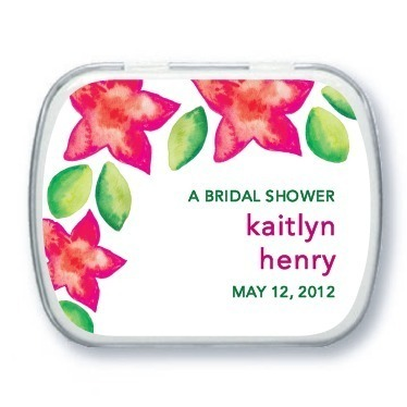 Personalized mint tins, Tropical Watercolors