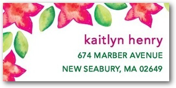 Personalized address labels, Tropical Watercolors